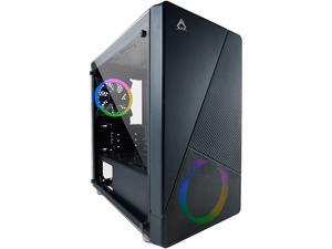 AZZA Noir CSAZ-130 Black Steel / Plastic / Tempered Glass Micro ATX Tower Computer Case