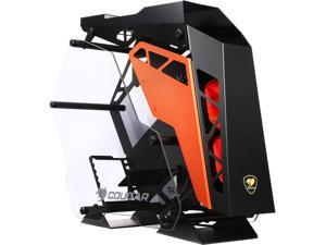 COUGAR Conquer Aluminum Alloy ATX Mid Tower Aluminum Frame Tempered Glass Gaming Case with LED Fan