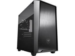 COUGAR MG130-G Black Micro ATX Mini Tower Elegant and Compact Case with Tempered Glass Side Window