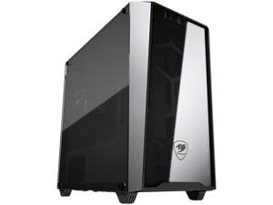 COUGAR MG120-G Black Elegant and Compact Mini Tower Case with Tempered Glass Side Window