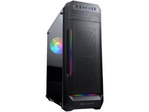 COUGAR MX331 Mesh-G Black Powerful Airflow Mid-Tower Computer Case with Stunning RGB and Tempered Glass