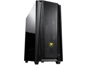 COUGAR MX660 Mesh Black Steel / Plastic / Tempered Glass ATX Mid Tower Computer Case with Mesh Front Panel and Clear Tempered Glass Left Panel