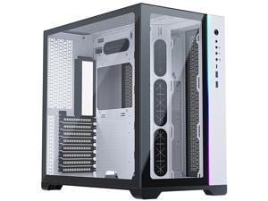 MetallicGear NEO Qube, Dual Tempered Glass Design, Dual Chamber ATX Mid-Tower, Digital-RGB Lighting, Dual System Support, White