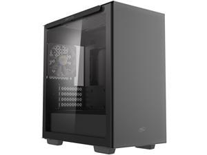 DeepCool MACUBE 110 Micro ATX Case with Full-size Magnetic Tempered Glass Removable HDD Cage and Built-in Graphics Card Holder - Black