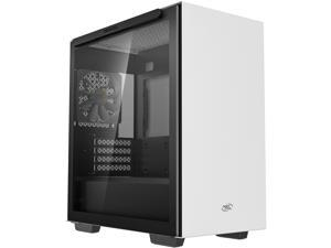 DeepCool MACUBE 110 WH Micro ATX Case with Full-size Magnetic Tempered Glass Removable HDD Cage and Built-in Graphics Card Holder - White