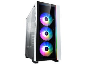Deepcool MATREXX 55 V3 ADD-RGB WH 3F White Steel / Plastic / Tempered Glass ATX Mid Tower Computer Case with 3 x 120mm ADD-RGB Fan