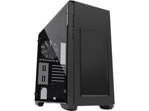Phanteks Enthoo Pro M Series PH-ES515PTG_BK Brushed Black Steel Frame / ABS Front / Tempered Glass Window ATX Mid Tower Computer Case