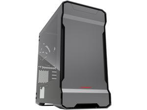Phanteks Enthoo Evolv PH-ES314ETG_AG Anthracite Gray Aluminum (3mm), Tempered Glass (3mm), Steel Chassis Micro ATX Tower Computer Case