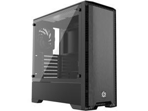 Metallic Gear Neo Silent Mid Tower ATX Chassis, Silent Front Panel, Tempered Glass Side Panel, Skiron Fan, Black