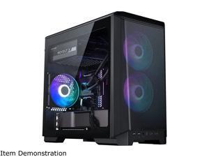Phanteks Eclipse P200A D-RGB, high airflow Ultra-fine mesh design, mini-ITX tower, Digital-RGB Lighting, 120mm D-RGB case fans, Tempered Glass, Black