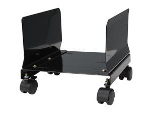 Syba SY-ACC65063 All Metal, Heavy Duty CPU Stand/Roller, Tall Walls, Castors, Black Color