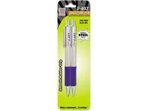 Zebra F-402 Ballpoint Retractable Pen Blue Ink Fine 2/Pack 29222