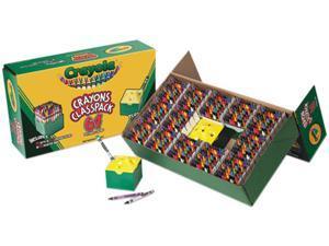 Classpack Regular Crayons, Assorted, 13 Caddies, 832/Box