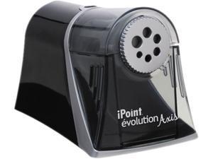 iPoint Evolution Axis Pencil Sharpener Black/Silver 5w x 7 1/2 d x 7 1/4h 15509