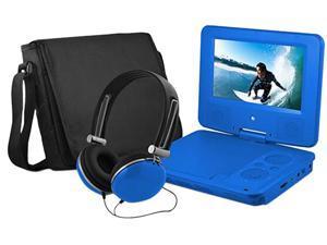 EMATIC EPD909BU 9 DVD Player Bundle Blue