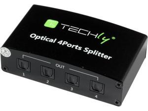 Techly IDATA TOS-SP4 Digital Audio Splitter 4 Toslink Ports