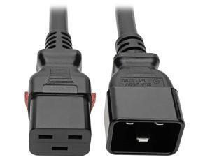 Tripp Lite Power Extension Cord C20 to Locking C19 M/F 12 AWG 20A Black 6ft (P036-L06)