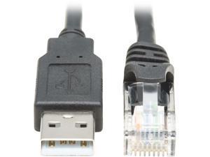 Tripp Lite USB-A to RJ45 Rollover Console Cable (M/M) - Cisco Compatible, 250 Kbps, 6 ft., Black (U009-006-RJ45-X)