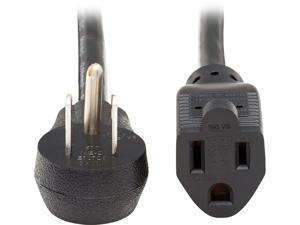 Tripp Lite P024-006-15D 6 ft. Extension Cord, Right-Angle NEMA 5-15P to NEMA 5-15R - Heavy Duty, 15A, 120V, 14 AWG, Black