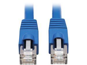 Tripp Lite Cat6a 10G-Certified Snagless F/UTP Network Patch Cable (RJ45 M/M), PoE, CMR-LP, Blue, 50 ft. (N261P-050-BL)
