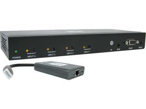 Tripp Lite B320-4X1-HH-K1 4-Port HDMI over Cat6 Presentation Switch/Extender Kit - 4K 60 Hz, UHD, 4:4:4, HDR, PoC, 50 ft., TAA