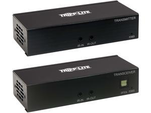 Tripp Lite B127A-111-BHTH HDMI over Cat6 Extender Kit, Transmitter and Receiver with Repeater, 4K 60Hz, 4:4:4, IR, HDR, PoC, 230 ft., TAA