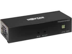 Tripp Lite B127A-110-BH HDMI over Cat6 Receiver with Repeater, 4K 60Hz, HDR, 4:4:4, IR Transceiver, PoC, HDCP 2.2, 230 ft., TAA
