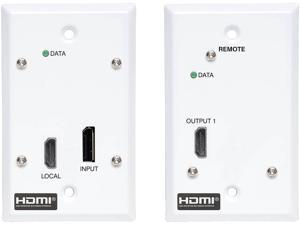 DisplayPort to HDMI Over Cat6 Extender Kit Wall Plate 4K 60Hz PoC