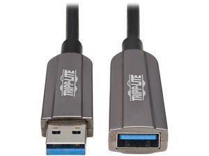 Tripp Lite USB-A Fiber Active Optical Cable Extension Repeater CL3 M/F 10M