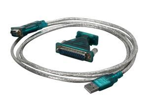BYTECC Model BT-DB925 6 FT USB to DB9 Serial Adapter, provides the connection between USB and RS-232 port Male to Male