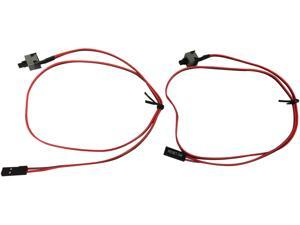 Rosewill 2 Pin Power Switch Cable, Momentary On / Off Push Button, ATX Computer Switch Wire, 17.5 Inch Length, 2-Pack