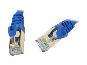 Rosewill 3 ft. Cat 7 Shielded Networking Cable - Blue, Twisted Pair (S/STP) (RCW-3-CAT7-BL)