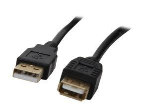 Rosewill RCAB-11007 – 15 Feet USB A Male to A Female Extension Cable - Black, Gold Plated Connectors