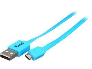 Rosewill RMU-1.5BU - 1.5-Foot USB 2.0 A Male to Micro B (5-Pin) Male Cable - Blue