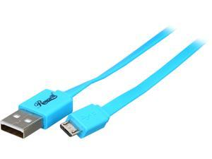 Rosewill RMU-3BU - 3-Foot USB 2.0 A Male to Micro B (5-Pin) Male Cable - Blue