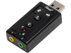Rosewill RCAC-17001 7.1 channel USB External Stereo Sound Adapter for Windows and Mac, Plug and play No drivers Needed
