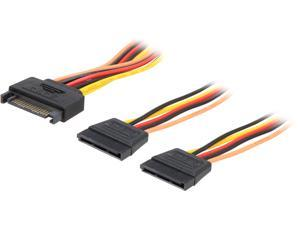 Rosewill RCSC-18012 6 in. SATA Power Y Splitter Cables Male to Female