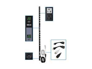 Tripp Lite Metered PDU, 20A Dual Circuit, 32 Outlets (5-15/20R), 120 V, L5-20P/5-20P, 10 ft. Cord, 0U Vertical Rack-Mount Power (PDUMV40)