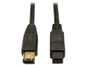 Tripp Lite F017-006 6 ft. IEEE-1394b FireWire 800 Gold Hi-Speed 9pin/6pin Cable Male to Male