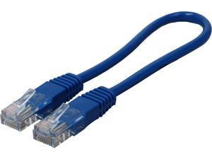 TRIPP LITE N002-001-BL 1 ft. Cat 5E Blue Cat5e 350MHz Molded Patch Cable