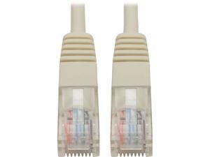 Tripp Lite Cat5e 350MHz Molded Patch Cable (RJ45 M/M) - White, 25-ft. (N002-025-WH)
