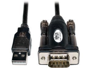 Tripp Lite Model U209-000-R 5 ft. USB to Serial Adapter (USB-A Male to DB9M) Male to Male