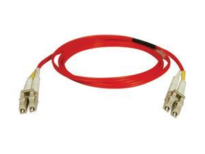 Tripp Lite N320-02M-RD 6.56 ft. Red Duplex MMF 62.5/125 LC to LC Patch Cable Male to Male