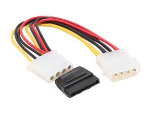 OKGEAR GC8ATAMFL 8 in. molex 4pin male to 15pin SATA power and molex 4pin female Cable
