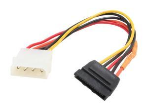 OKGEAR GC8ATAL 8 in. molex 4pin male to 15pin SATA power  cable