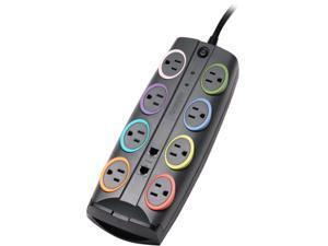 Kensington K62690NA 8 Feet 8 Outlets 2490 Joules Standard Adapter