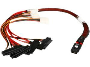 iStarUSA K-SF87X82-50 1.64 ft. miniSAS SFF-8087 to 4x SFF-8482 50 cm Cable