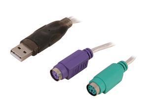 SABRENT Model SBT-PS2U USB to PS/2 (Dual PS/2) Converter Adapter Cable
