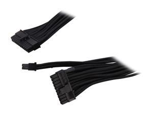 Silverstone PP06B-MB55 1.8 ft. Sleeved Motherboard 24pin Cable