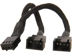 SilverStone All Black Sleeved 1-to-2 Sleeved PWM Fan Splitter Cable (CPF01)